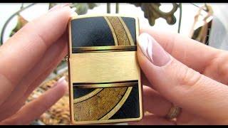 Зажигалка Zippo 28673 Gold and Black (Видео обзор) podarki-odessa.com