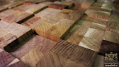 Деревянная мозаика | Мозаика из дерева — 12 Зебрано - YouTube
