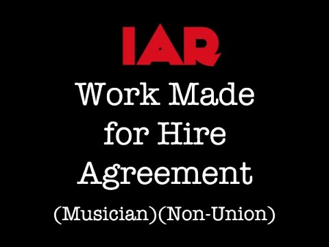 Indie Artist Resource - Work Made for Hire Agreement