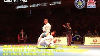 渡邊大輔vs西村拳 WKF PL Okinawa 2015 -75kg FINAL WATANABE DAISUKE (JPN)  vs NISHIMURA KEN (JPN)