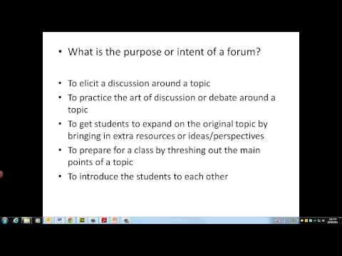Using Online Forums. An educational perspective.