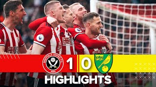 Sheffield United 1-0 Norwich | Premier League highlights | Amazing triple save from Dean Henderson