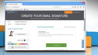 So erstellen Sie eine benutzerdefinierte e-mail-Signatur mit WiseStamp in Mozilla® Firefox