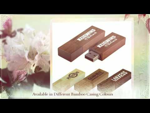 Square Wooden Flash Drive