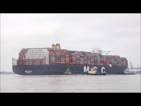 Deep draughted MSC Maya arrives heavily laden,planned port s