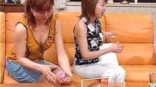 テレビショッピング 田中さん谷間+ミニスカ 田中さんの谷間