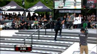 Maloof Money Cup NY 2011 Pro Finals Round 1 Jam 3 - Jackson Curtain & Manny Santiago