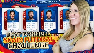 BEST POSSIBLE ALL SPAIN WC FUT DRAFT CHALLENGE   FIFA 18