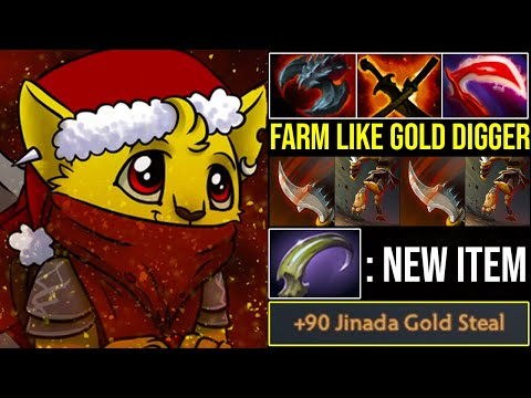 Pro Jinada Steal Gold Like A Gold Digger | Bounty Hunter With New Crit Item Kill All - 7.23 Dota 2
