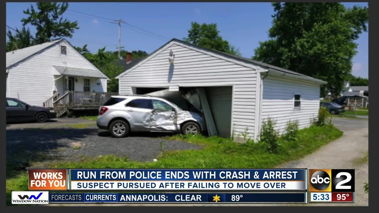 Run from police ends with crash in Elkton