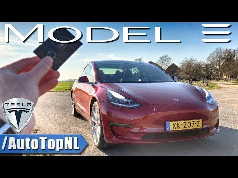 Tesla Model 3 Performance REVIEW POV Test Drive on AUTOBAHN & ROAD by AutoTopNL