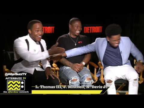 Leon Thomas III, Jason Mitchell, Nathan Davis Jr. | Detroit Junket