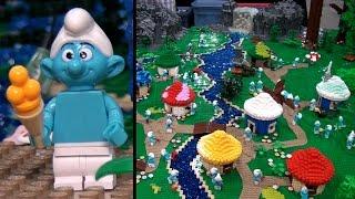 Giant custom LEGO Smurfs display – Brickworld Chicago 2015