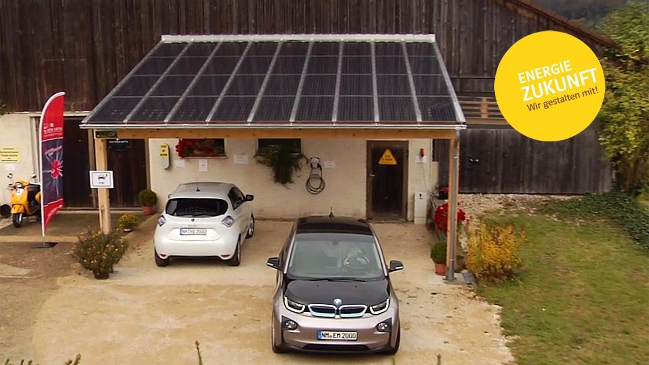 b rgerenergiepreis oberpfalz 2016 solar carport mit e ladestation youtube