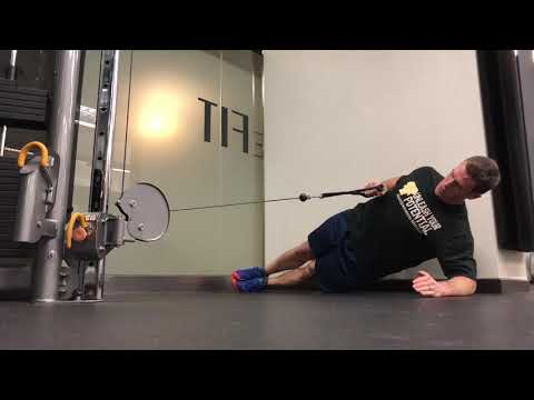 Advanced Plank Exercises| Side Plank + Cable Row