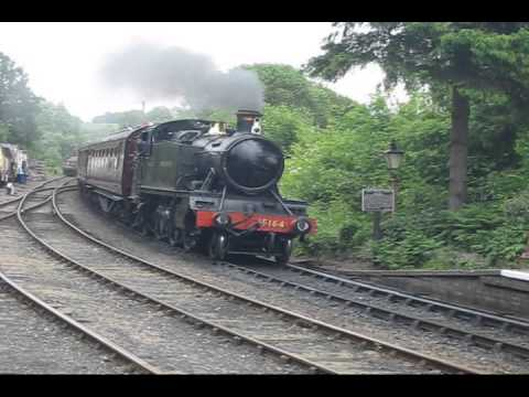GWR Locomotives 5164 and 2857 at Highley station on the Severn Valley Railway SVR
