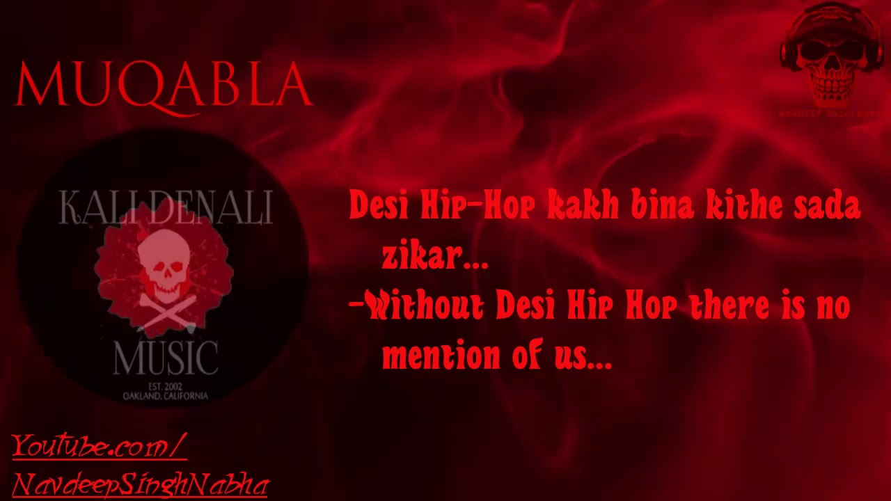 BOHEMIA English Translation - HD Lyrics of Only Rap in 'Muqabla' By