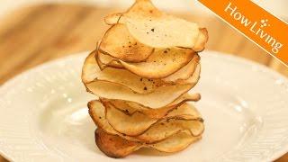 (低卡健康) 不用炸的洋芋片 超好吃烤薯片 Non-Fried Baked Potato Chips|HowLiving美味生活