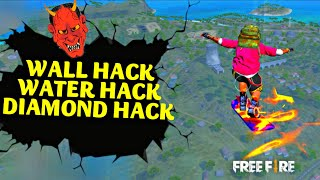 7 FREE FIRE HACKS YOU DON'T KNOW || DIAMOND HACK|| WALL HACK RUN ON WATER HACK|| GARENA FREEFIRE