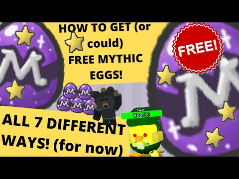 All 7 Different Ways You Can/Could Get MYTHIC EGGS For *FREE* In BEE SWARM SIMULATOR! | ROBLOX