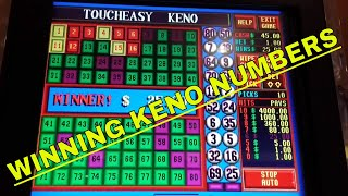 Keno Wins!!  $1.00 Bets TouchEasy & SuperBall - Redtint Loves Slots