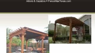 Wooden Arbors, Pergolas And Gazebos By Fencemax Texas