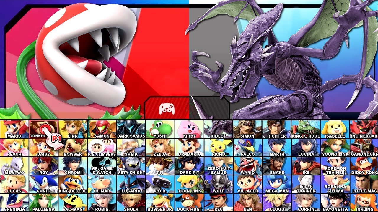 Super Smash Bros Ultimate All Characters And Alternate Costumes / Colors  Unlocked / Roster (Switch)