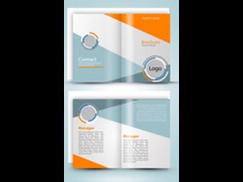 Design a Two Fold Brochure In Adobe Illustrator part 1 - YouTube - two fold brochure