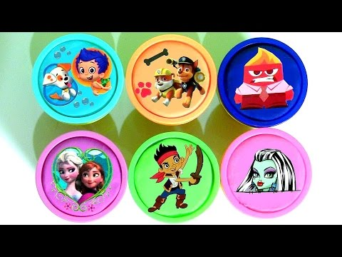 Play Doh Surprise Bubble Guppies PAW PATROL Monster High Frozen Anna Elsa Pirate JAKE