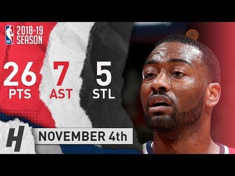 John Wall Full Highlights Wizards vs Knicks 2018.11.04 - 26 Pts, 7 Ast, 5 Steals!