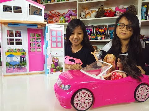 Barbie [ 2 Story Doll House and Car ] - Kids' Toys