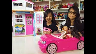 Video Barbie [ 2 Story Doll House and Car ] - Kids' Toys download MP3, 3GP, MP4, WEBM, AVI, FLV Desember 2017