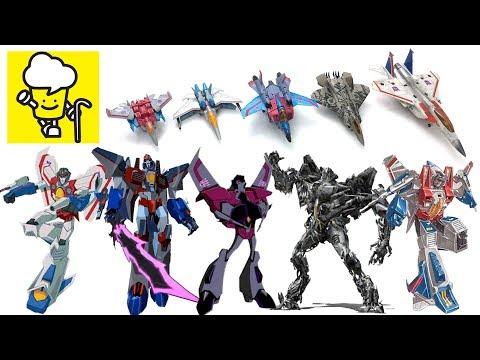 Different Starscream Transformer