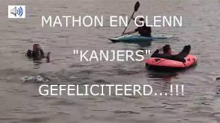 Mathon en Glenn IronMan Maastricht 2018.