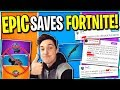 New Update Today! THE PUMP IS BAACK! Epic SAVED Fortnite! Ninja and Pros SO Happy 9.30