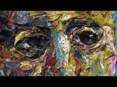 x1109 - original oil painting large impressionist art realism arts portrait impasto unique