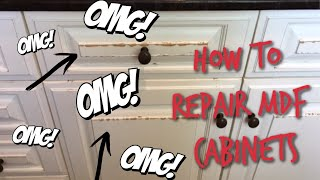 How To Repair Water Damaged MDF Cabinets |#mdfcabinets #repairmdfwaterdamage #paintedkitchencabinets