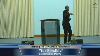 """16 Aug 20, """"It's Possible"""" Min R. Perry"""