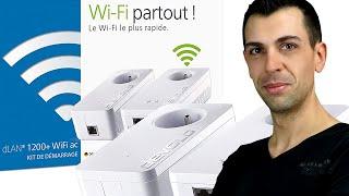 CPL Devolo dLAN 1200+ WiFi ac Starter Kit - Unbowing & test ! Family Geek
