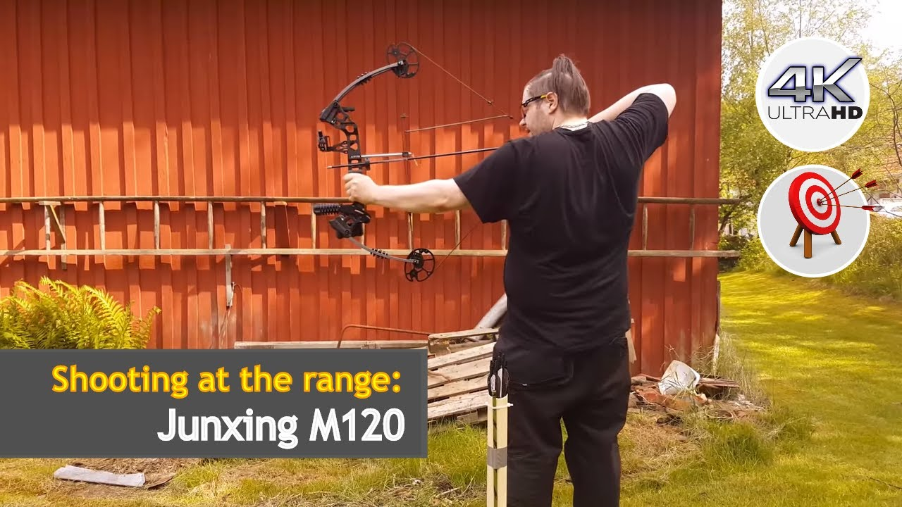 Junxing M120 Dream Compound Bow Shooting At The Range Uhd Youtube
