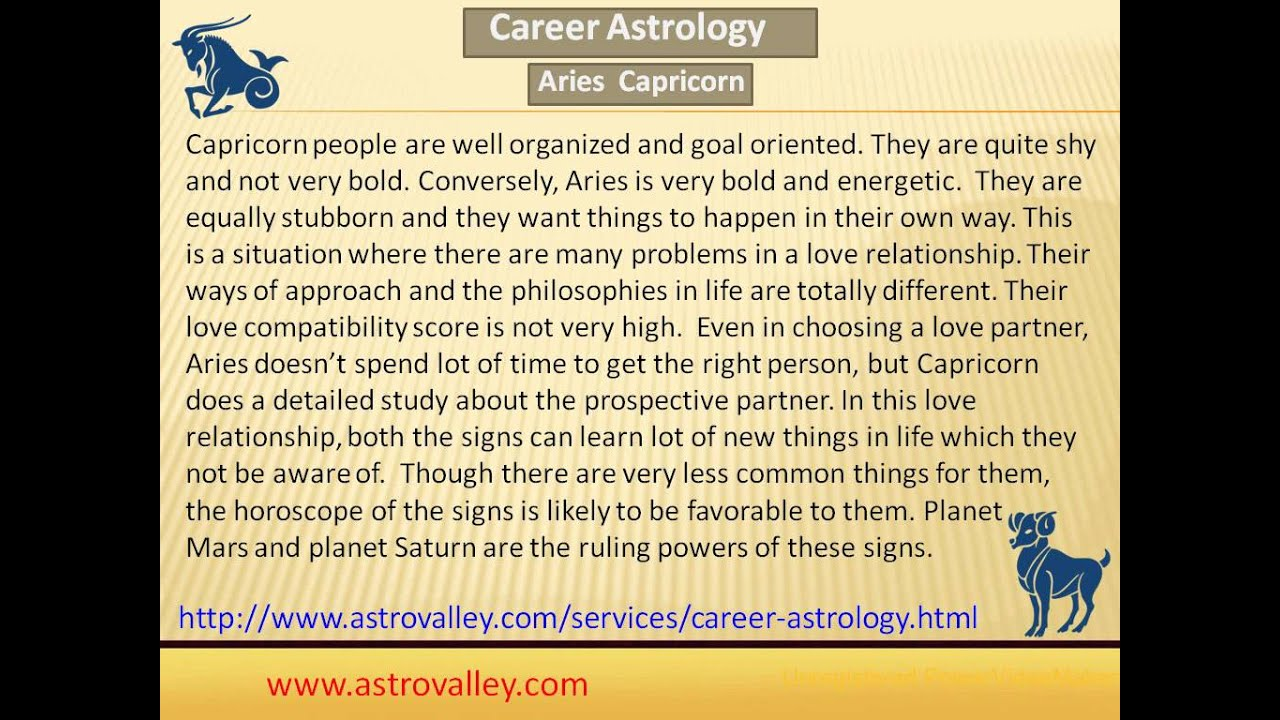 Aries compatible with capricorn