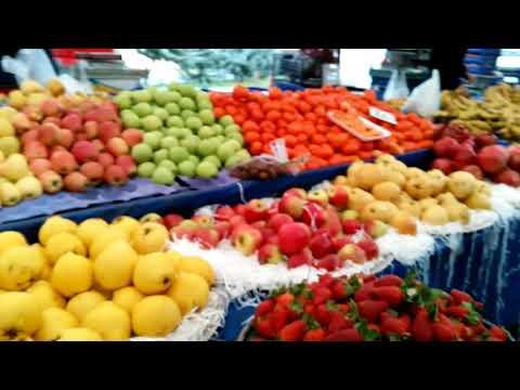 Идём на  БАЗАР/Рынок в Турции/Цены на ПРОДУКТЫ в СТАМБУЛЕ/🍎🍊🥝🍯🌰🌶️🥕🌽🍓🍌🍐🍏🍅🍆🥔🍬