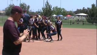 team az and corona angels post game dance 12u softball
