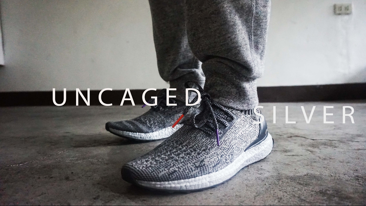 d33b705ae3c3 Adidas Ultraboost UNCAGED SILVER EDITION Review - YouTube