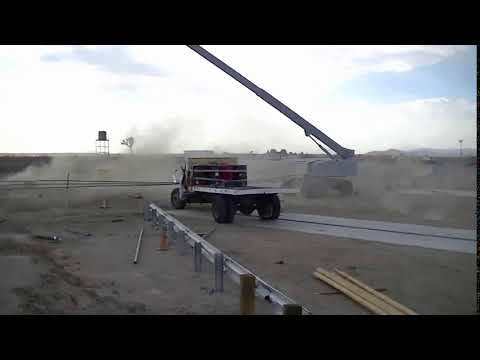 Post & Cable Passive Barrier System Real Time Panning View