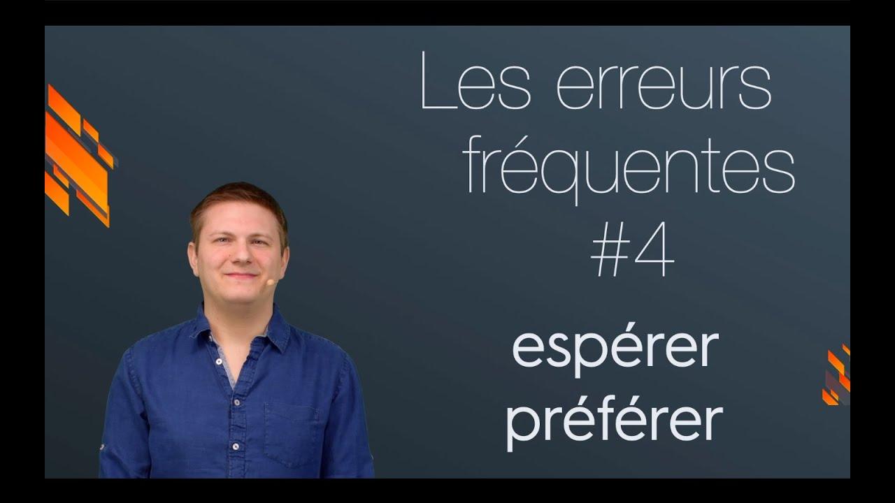 Esperer Et Preferer A L Indicatif Present Conjugaison Youtube