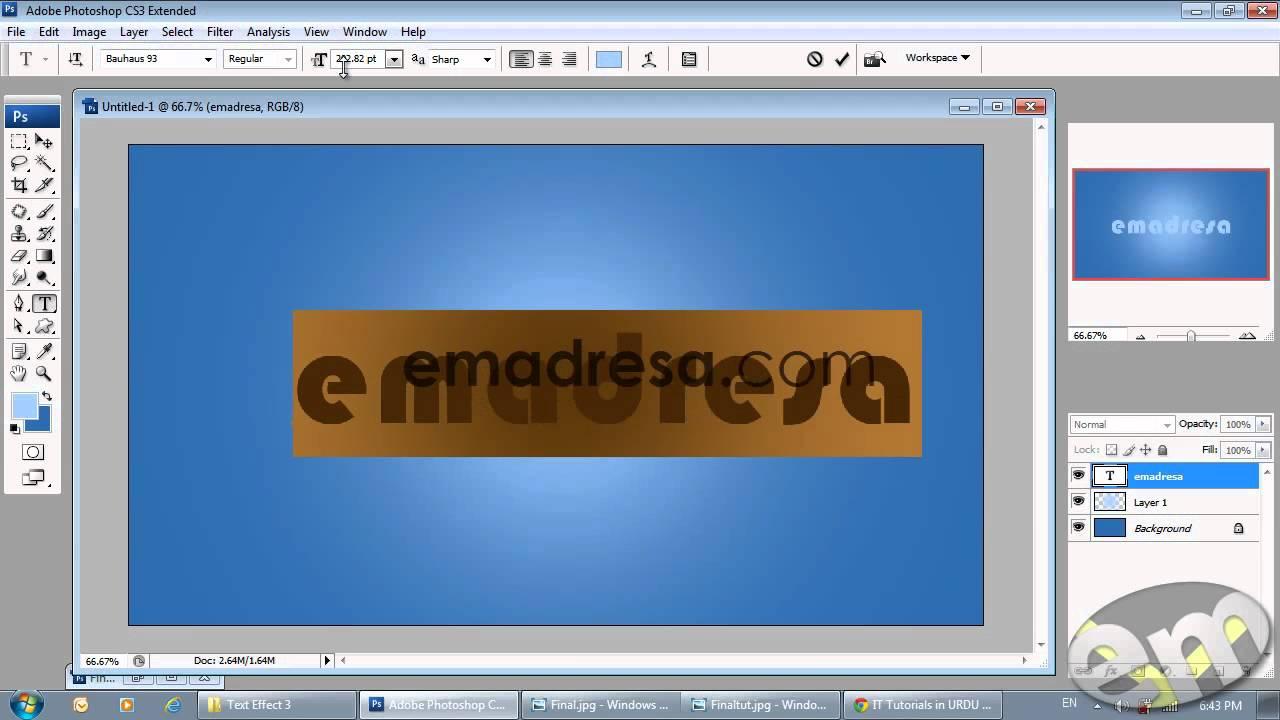 Tutorials photoshop cs3 gallery any tutorial examples text effect 3 urdu tutorial photoshop cs3 with emadresa youtube text effect 3 urdu tutorial photoshop baditri Choice Image