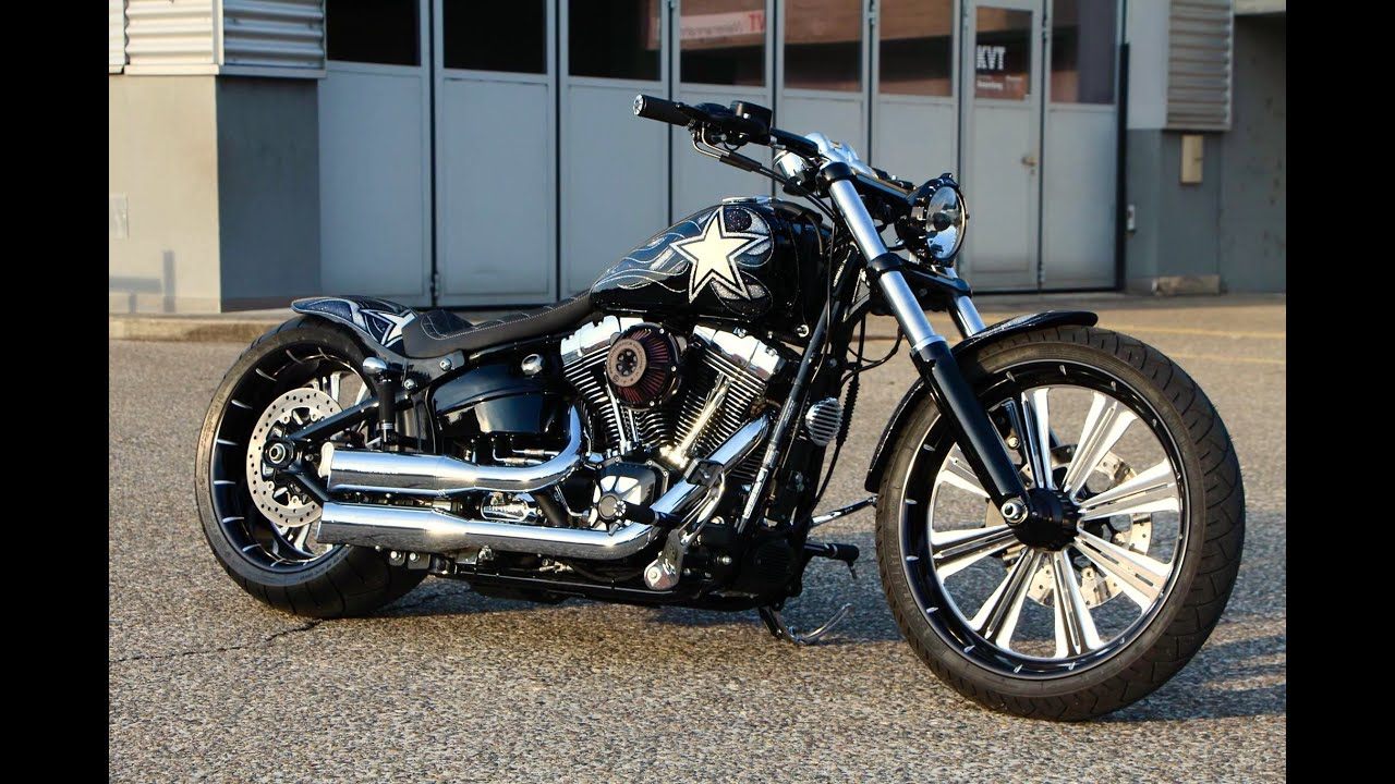 Harley davidson breakout fxsb softail custom youtube for Bj custom designs