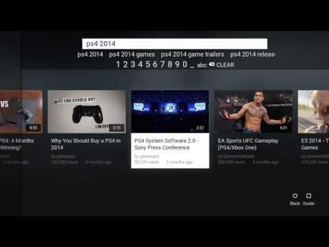 PS4 2.0 (YouTube app)