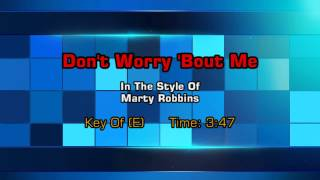 Marty Robbins - Don't Worry (Backing Track)